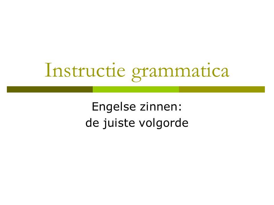 Instructie grammatica