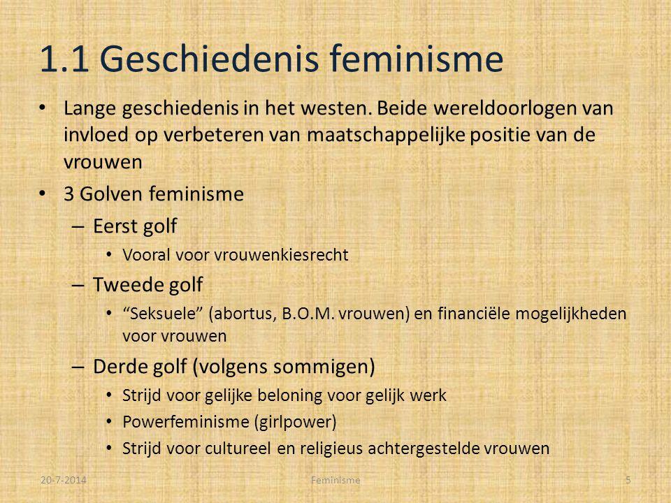 1.1 Geschiedenis feminisme