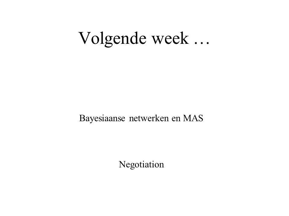 Bayesiaanse netwerken en MAS