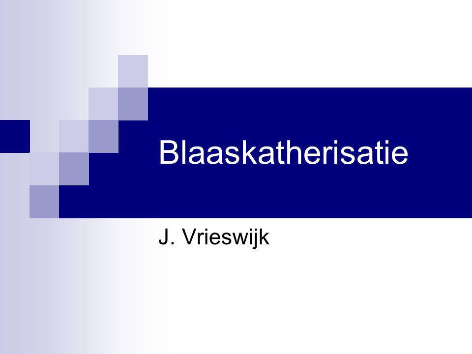 Blaaskatherisatie J. Vrieswijk