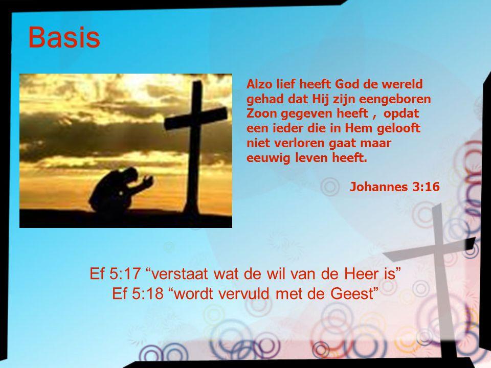 Basis Ef 5:17 verstaat wat de wil van de Heer is