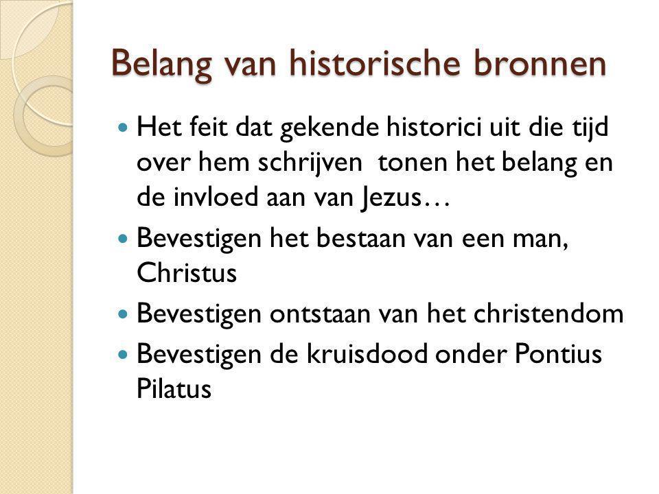 Belang van historische bronnen