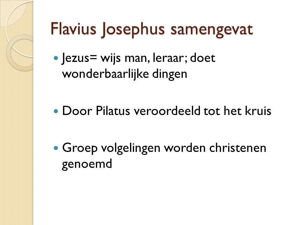 Flavius Josephus samengevat