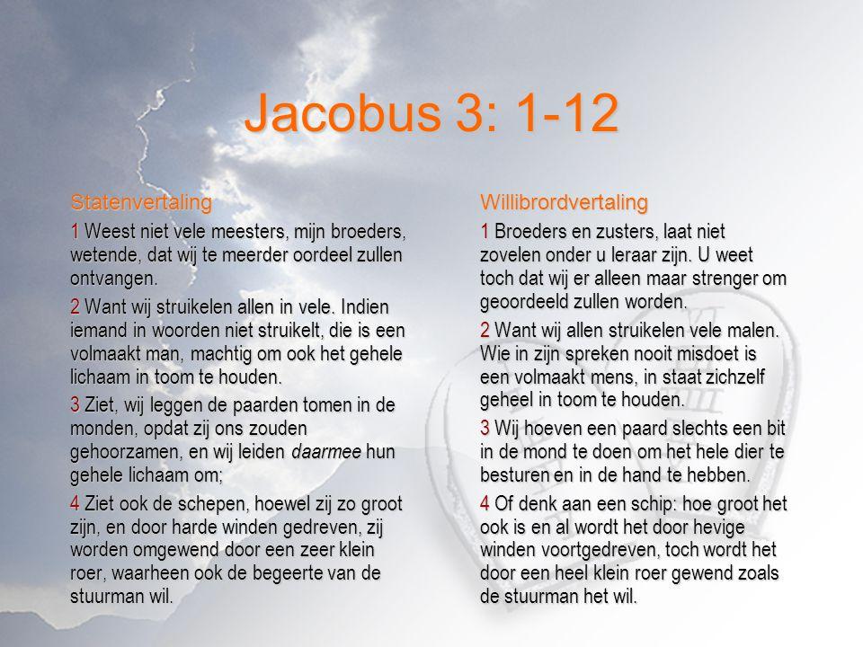 Jacobus 3: 1-12 Statenvertaling