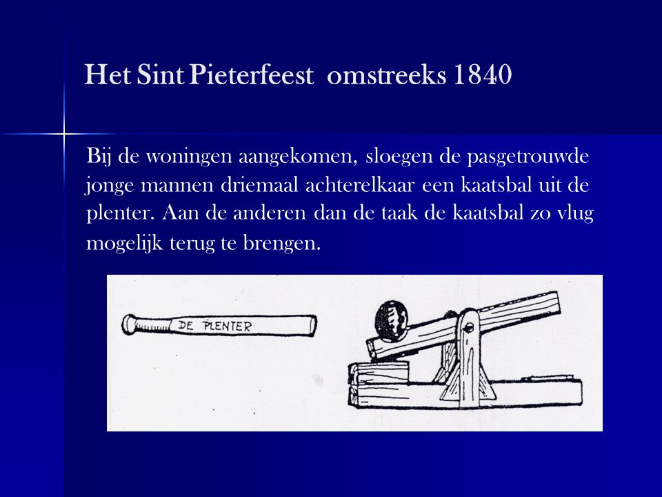 Het Sint Pieterfeest omstreeks 1840