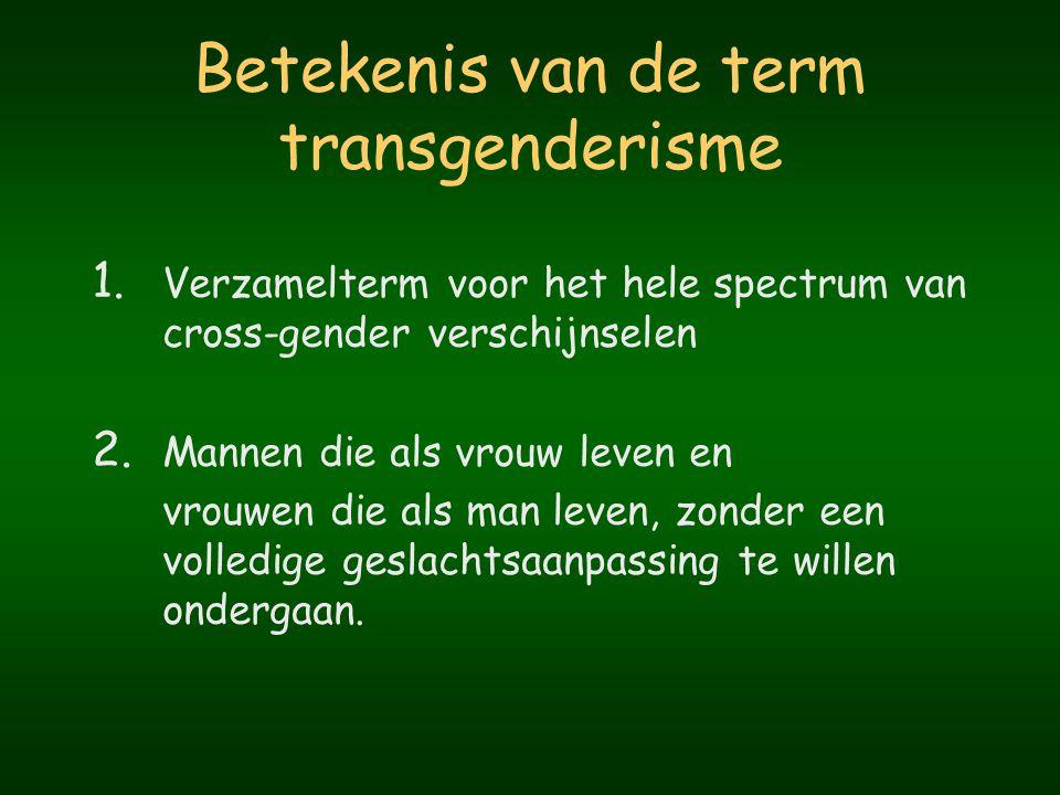 Betekenis van de term transgenderisme