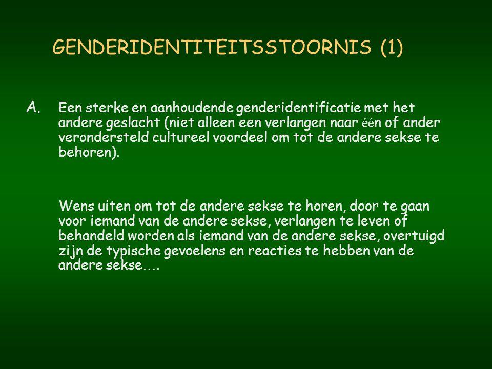 GENDERIDENTITEITSSTOORNIS (1)