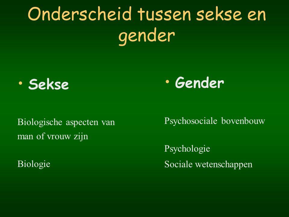 Onderscheid tussen sekse en gender