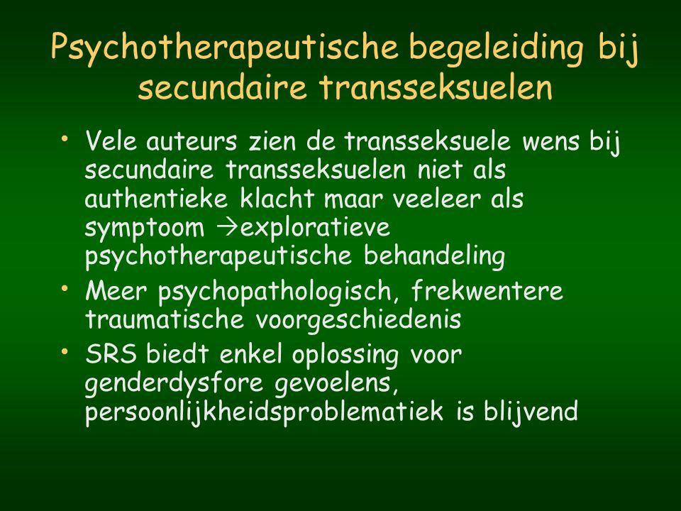 Psychotherapeutische begeleiding bij secundaire transseksuelen
