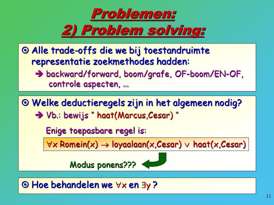 Problemen: 2) Problem solving: