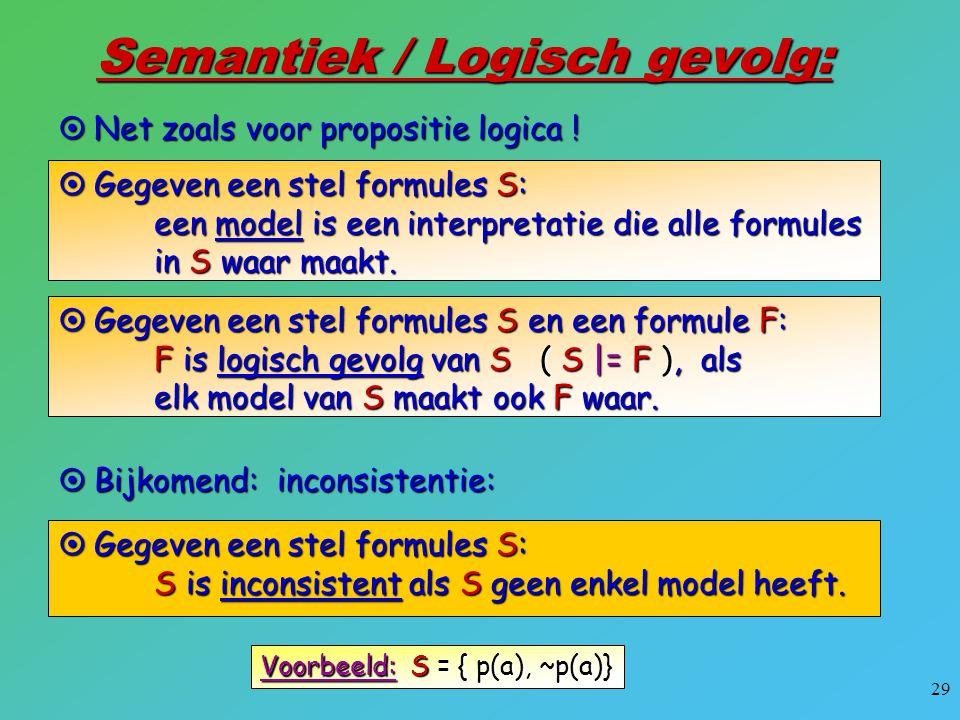Semantiek / Logisch gevolg: