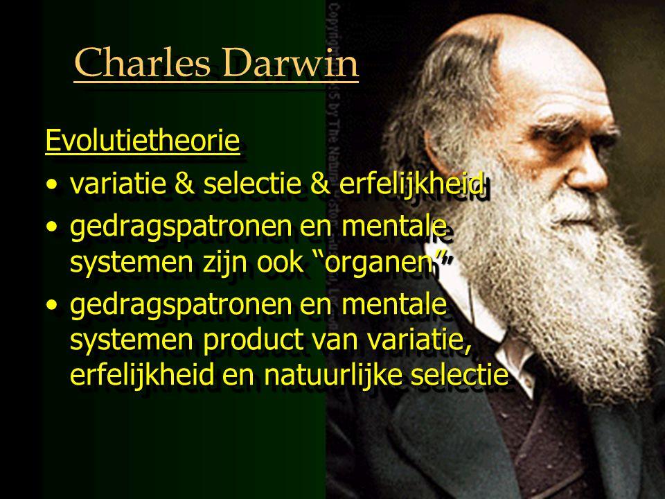 Charles Darwin Evolutietheorie variatie & selectie & erfelijkheid