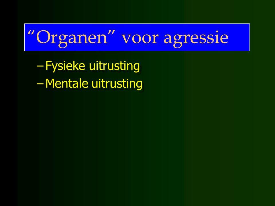 Organen voor agressie