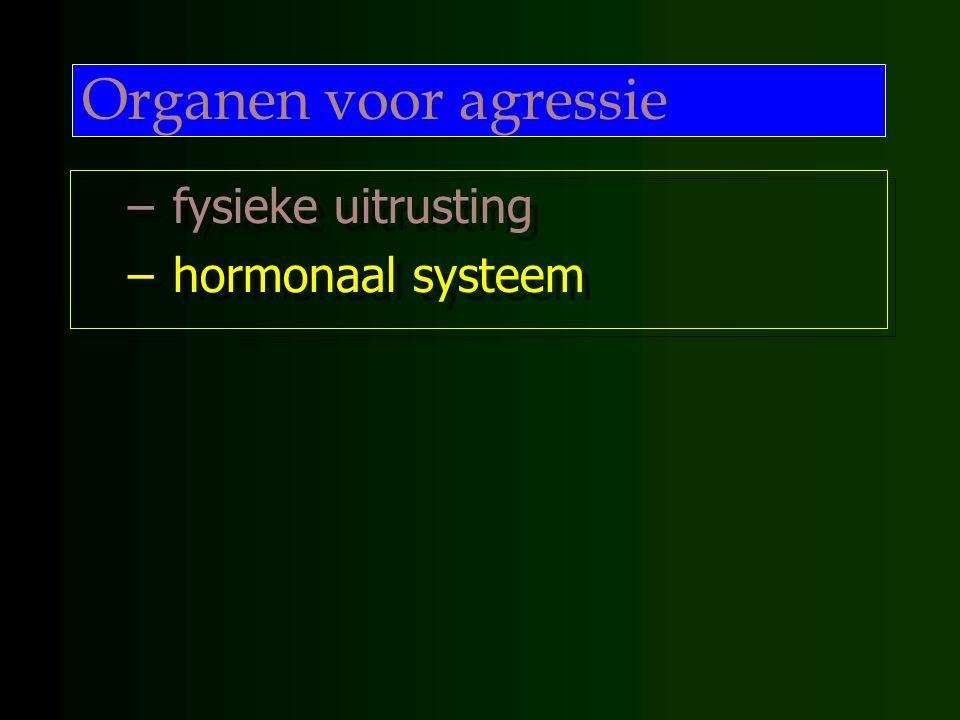 Organen voor agressie fysieke uitrusting hormonaal systeem