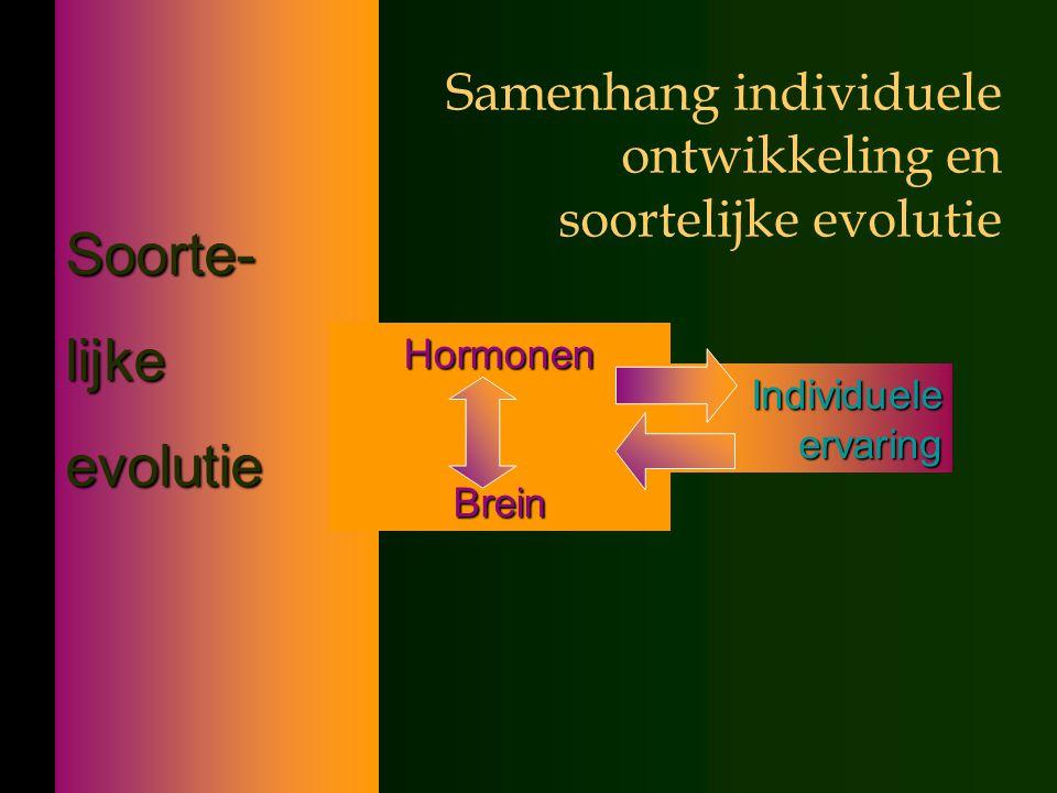 Samenhang individuele ontwikkeling en soortelijke evolutie