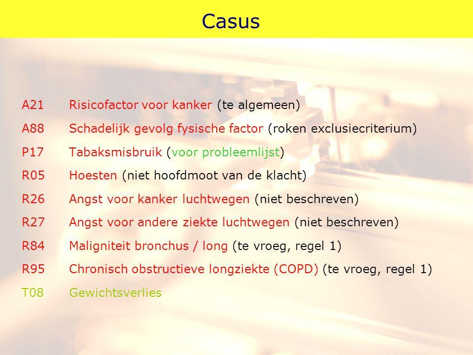 Casus A21 Risicofactor voor kanker (te algemeen)