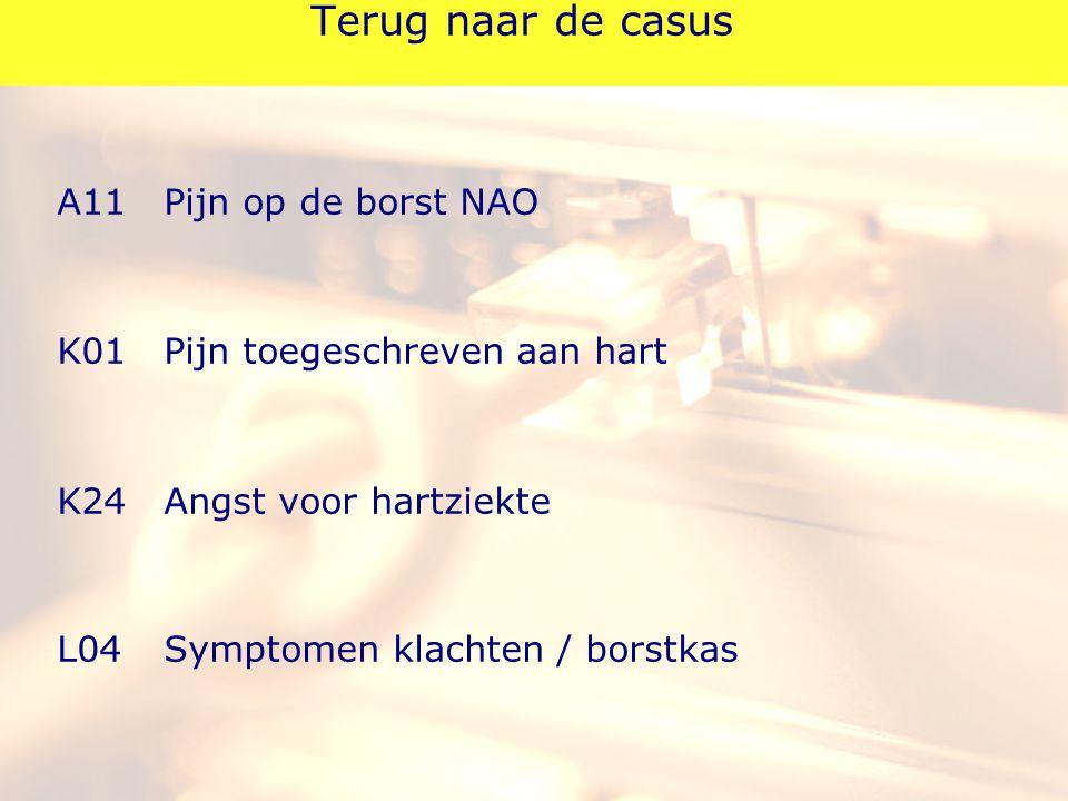 Terug naar de casus A11 Pijn op de borst NAO