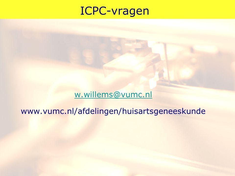 ICPC-vragen w.willems@vumc.nl