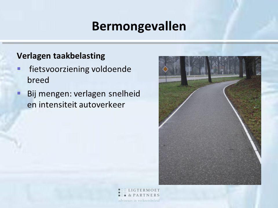 Bermongevallen Verlagen taakbelasting fietsvoorziening voldoende breed