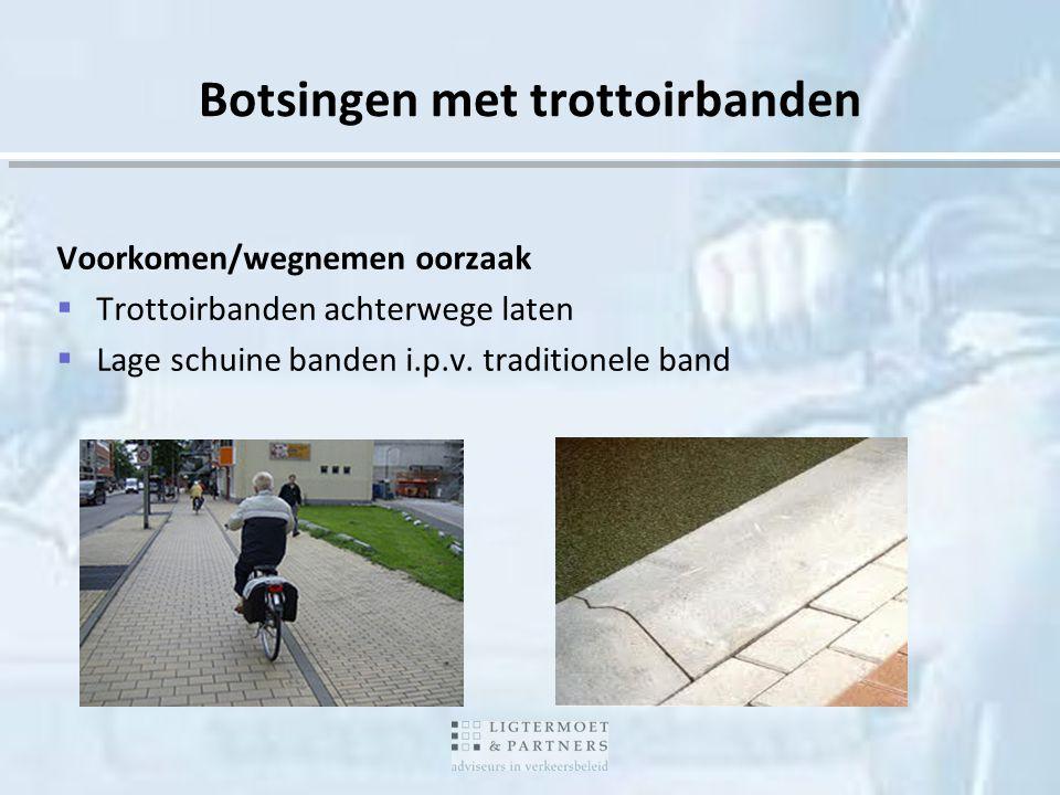 Botsingen met trottoirbanden