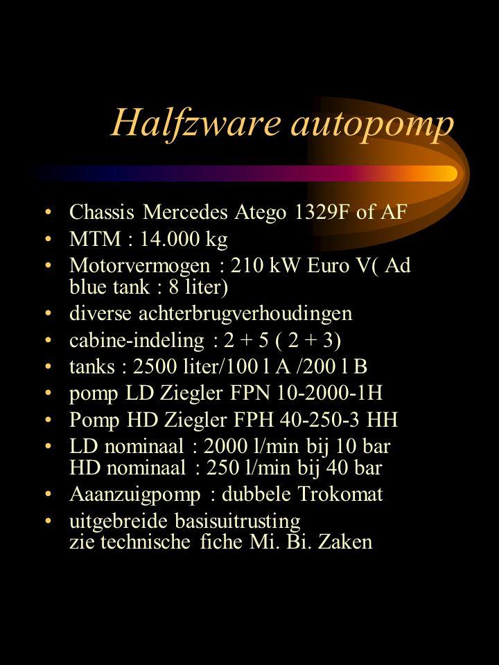 Halfzware autopomp Chassis Mercedes Atego 1329F of AF MTM : 14.000 kg
