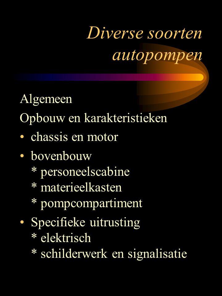 Diverse soorten autopompen