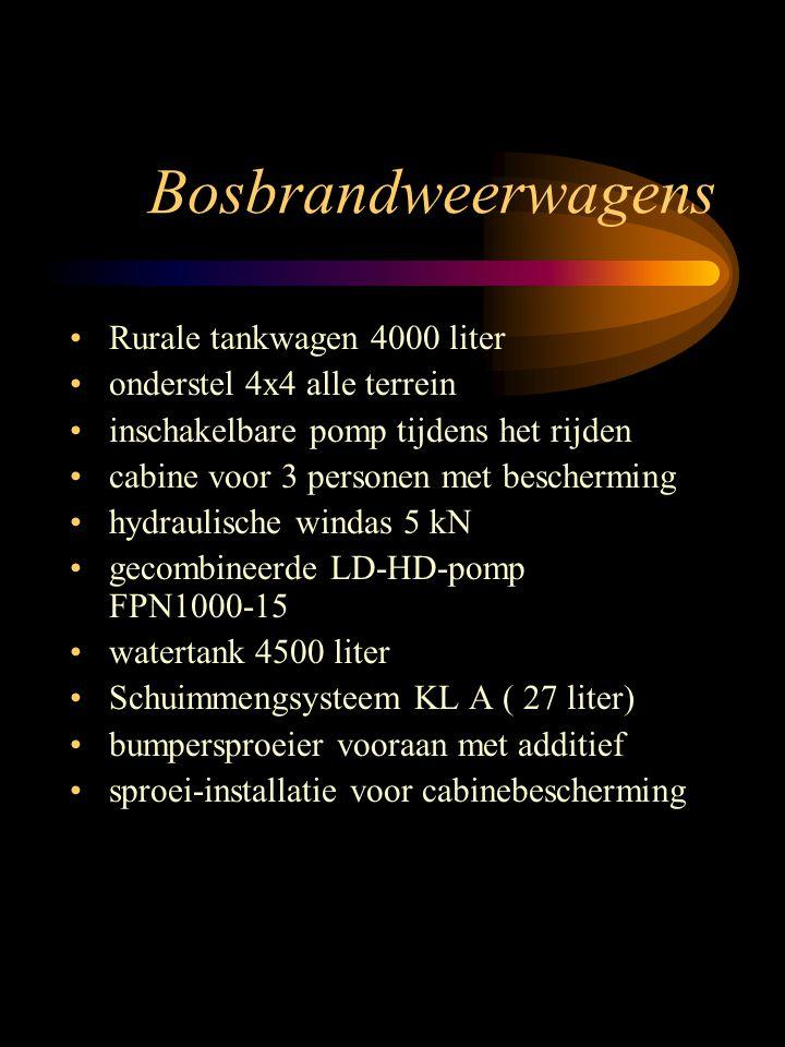 Bosbrandweerwagens Rurale tankwagen 4000 liter