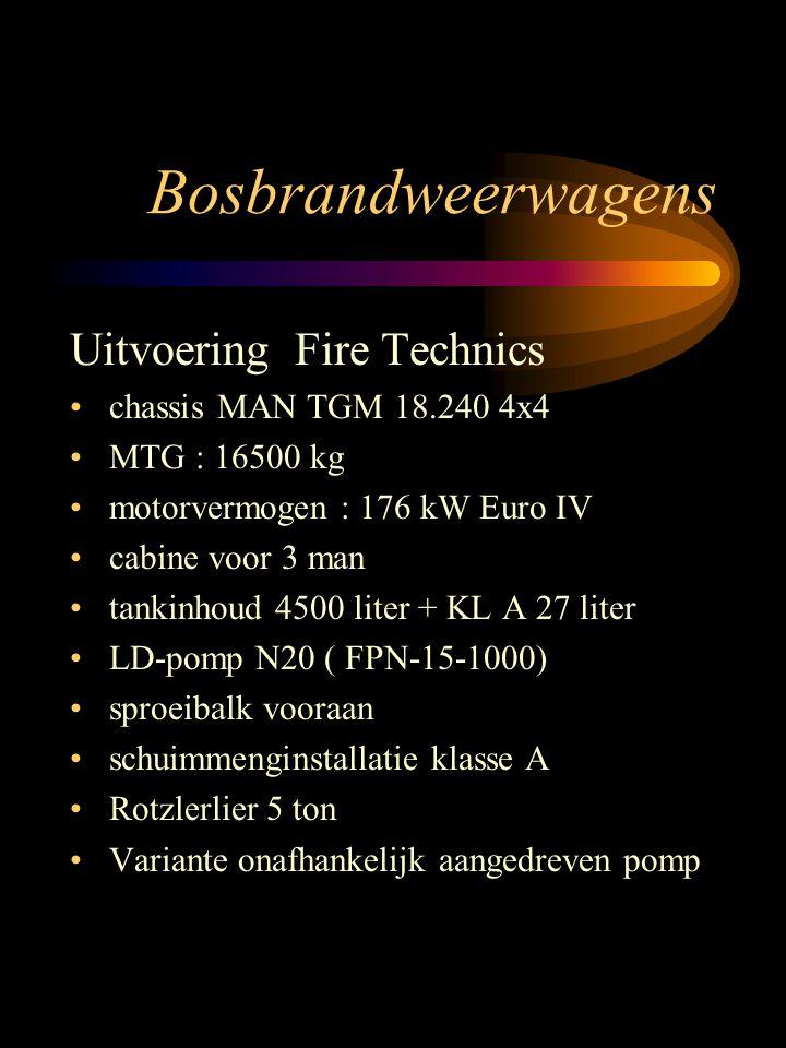 Bosbrandweerwagens Uitvoering Fire Technics chassis MAN TGM 18.240 4x4