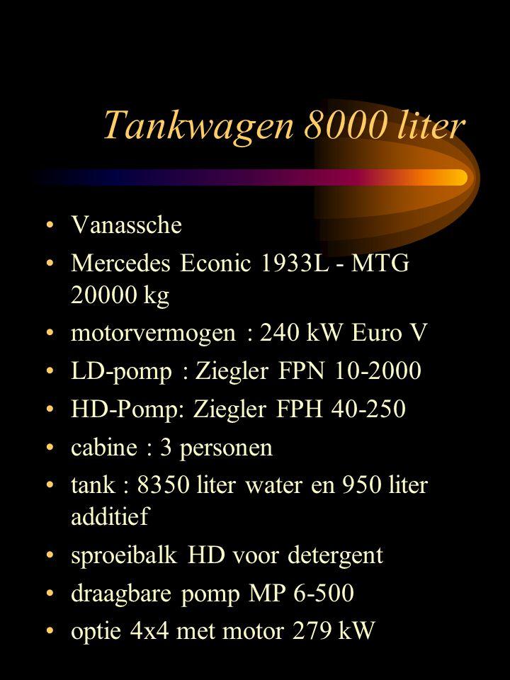 Tankwagen 8000 liter Vanassche Mercedes Econic 1933L - MTG 20000 kg