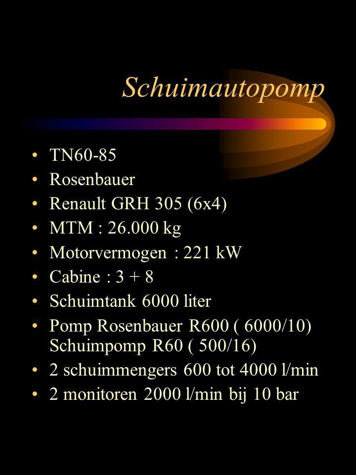 Schuimautopomp TN60-85 Rosenbauer Renault GRH 305 (6x4)