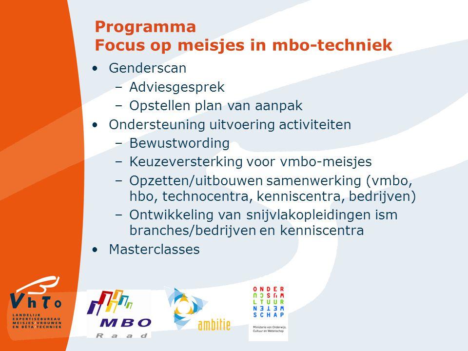 Programma Focus op meisjes in mbo-techniek