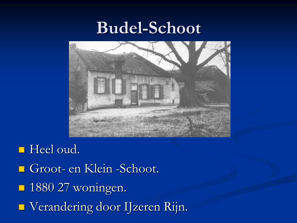 Budel-Schoot Heel oud. Groot- en Klein -Schoot. 1880 27 woningen.