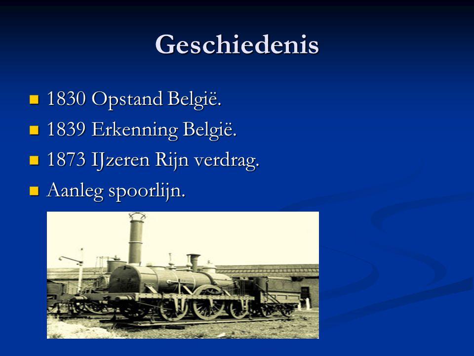 Geschiedenis 1830 Opstand België. 1839 Erkenning België.