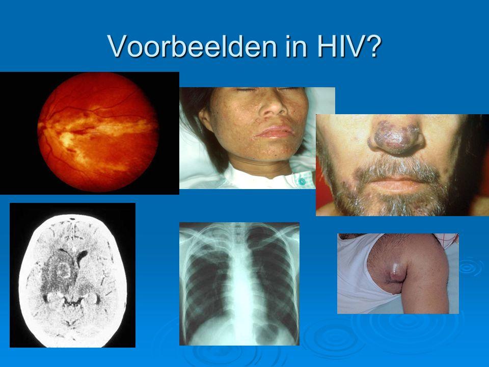 Voorbeelden in HIV