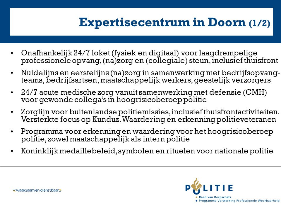 Expertisecentrum in Doorn (1/2)