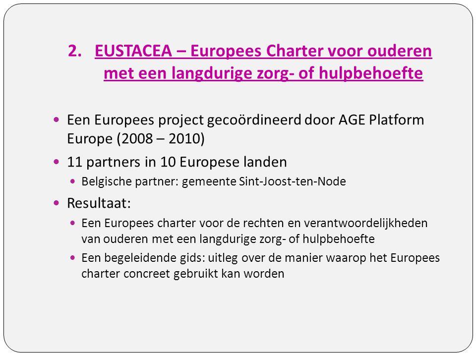 EUSTACEA – Europees Charter voor ouderen met een langdurige zorg- of hulpbehoefte