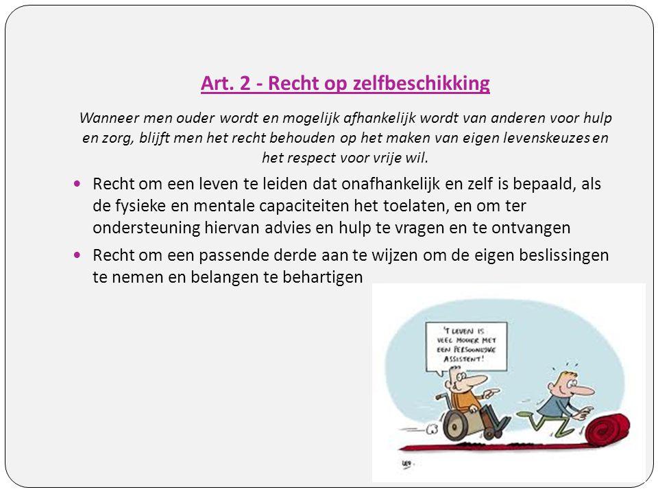 Art. 2 - Recht op zelfbeschikking