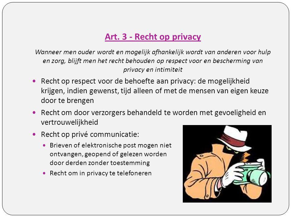 Art. 3 - Recht op privacy