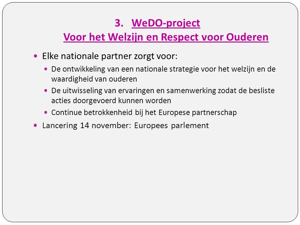 WeDO-project Voor het Welzijn en Respect voor Ouderen