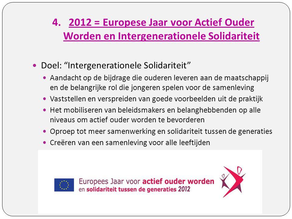 2012 = Europese Jaar voor Actief Ouder Worden en Intergenerationele Solidariteit