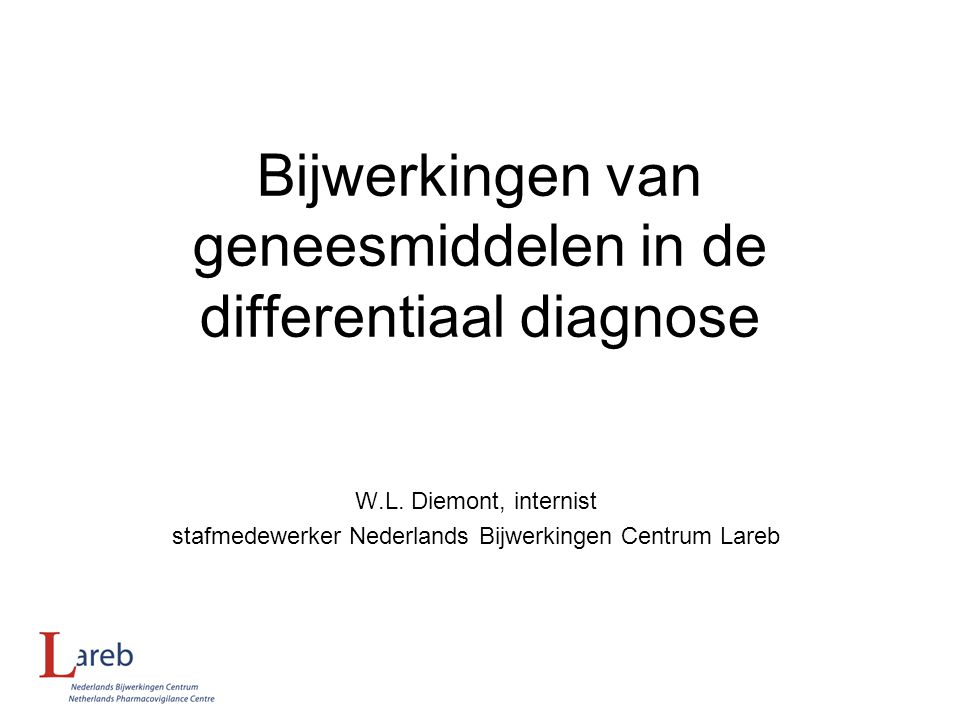 Bijwerkingen van geneesmiddelen in de differentiaal diagnose