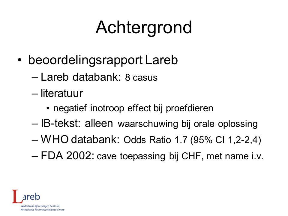 Achtergrond beoordelingsrapport Lareb Lareb databank: 8 casus