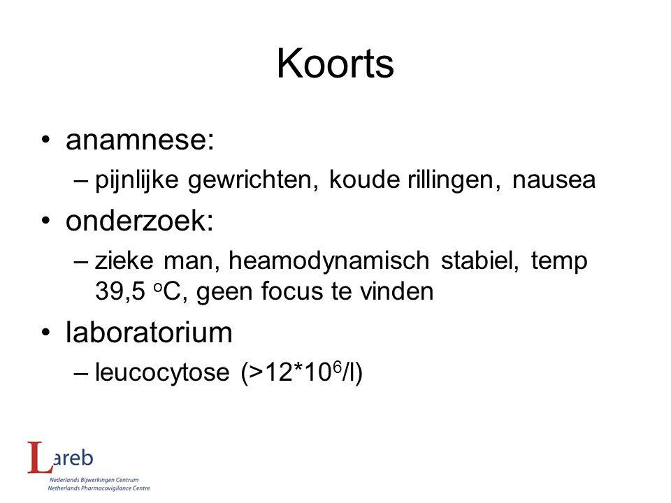 Koorts anamnese: onderzoek: laboratorium