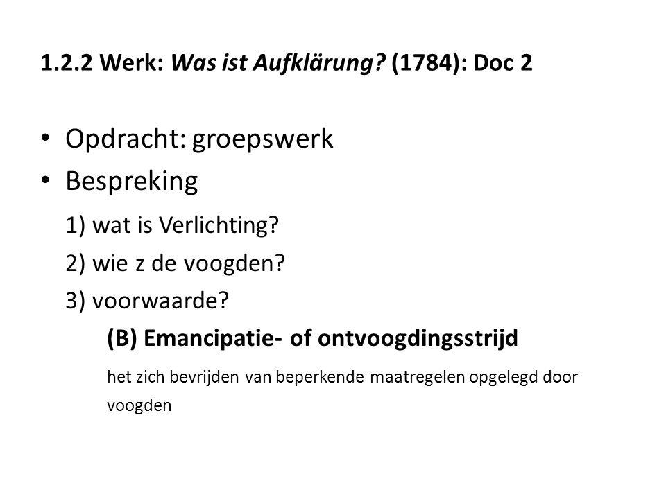 1.2.2 Werk: Was ist Aufklärung (1784): Doc 2