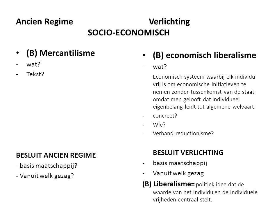 (B) economisch liberalisme