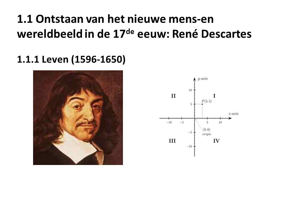 1.1 Ontstaan van het nieuwe mens-en wereldbeeld in de 17de eeuw: René Descartes