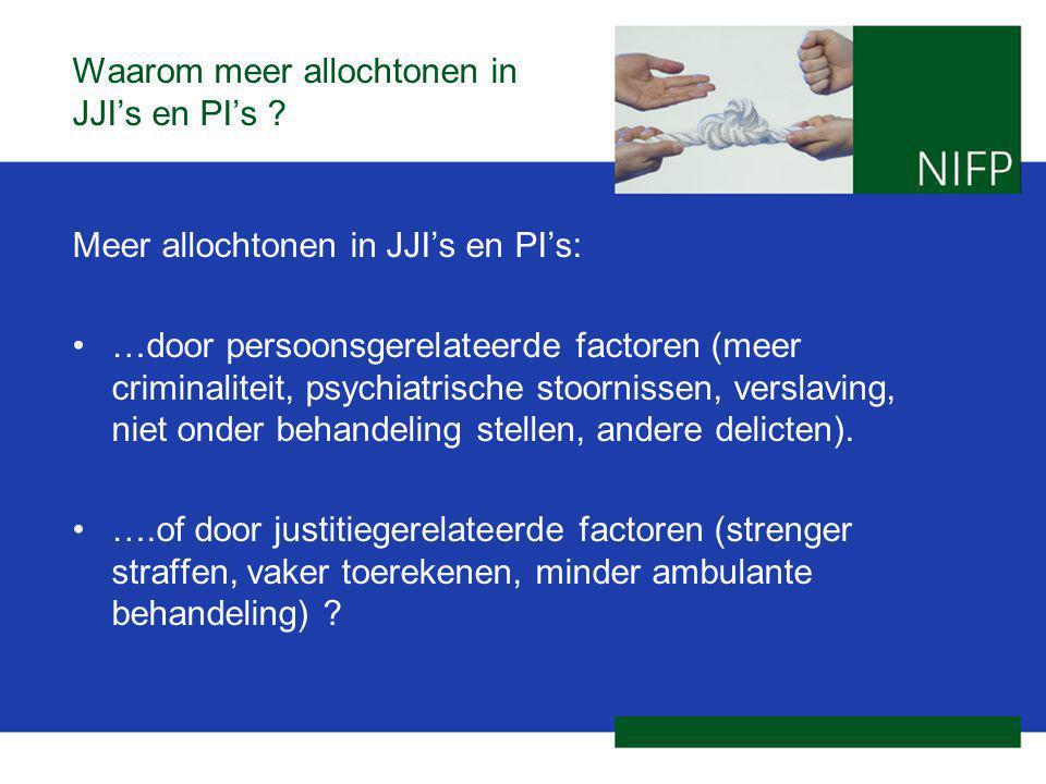 Waarom meer allochtonen in JJI's en PI's