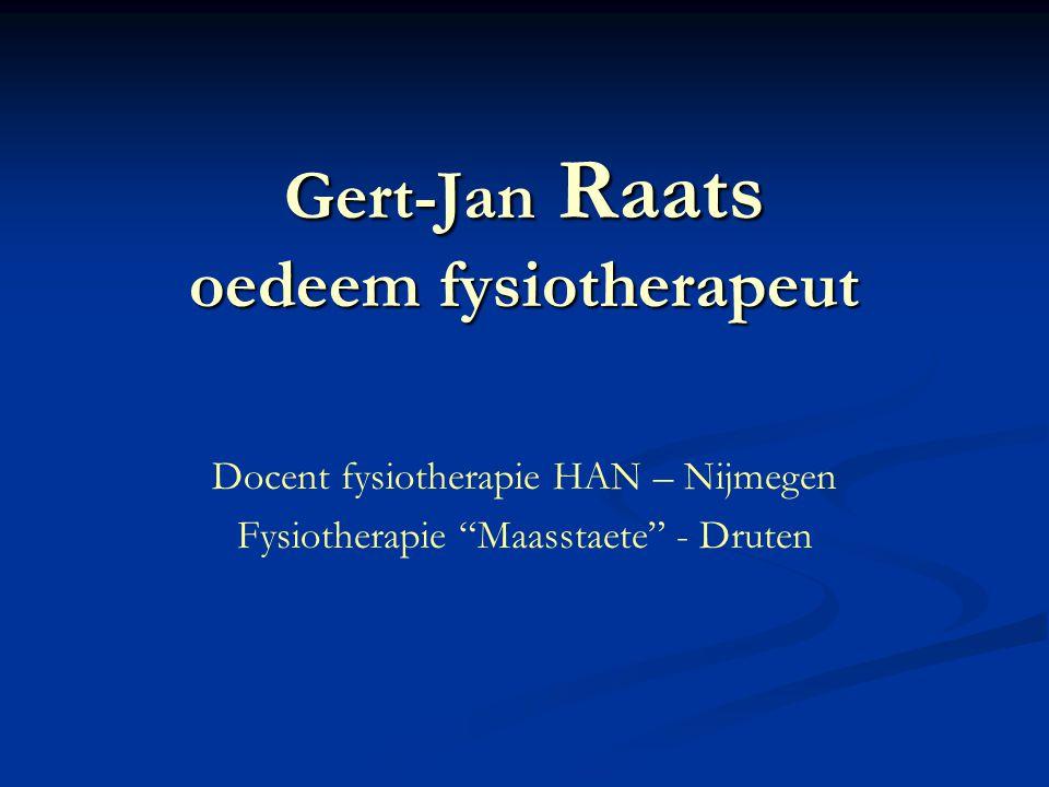 Gert-Jan Raats oedeem fysiotherapeut