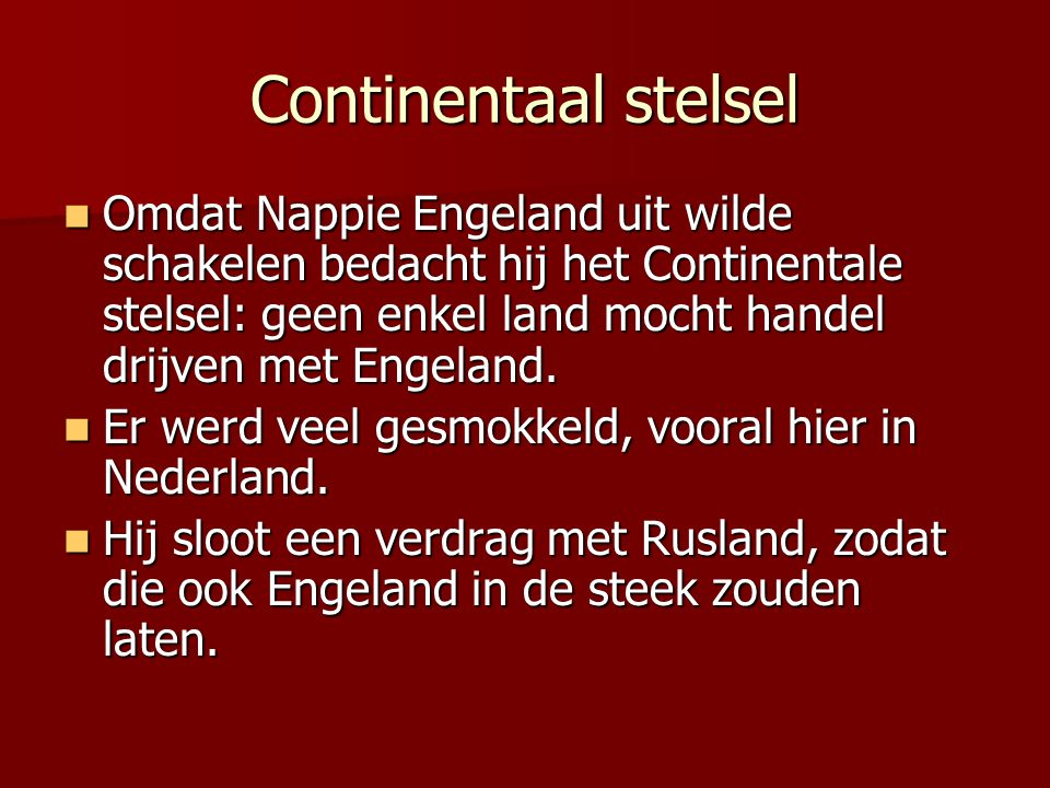 Continentaal stelsel