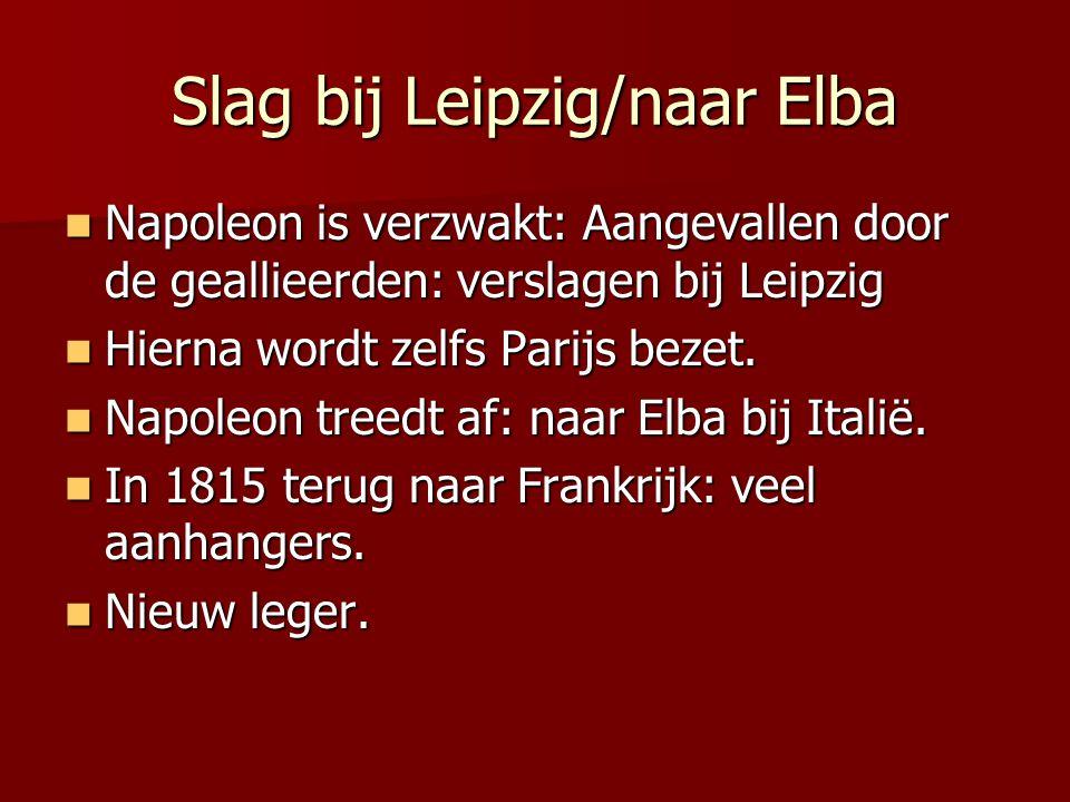 Slag bij Leipzig/naar Elba